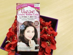 Japan's #1 Hair Color Brand Liese gives smoother and shinier hair after coloring