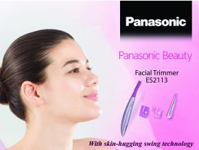 Manage and contour your facial hair with Panasonic Beauty Facial Trimmer ES2113