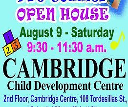 Invitation to Cambridge Child Development Centre Makati's Pretoddlers Openhouse