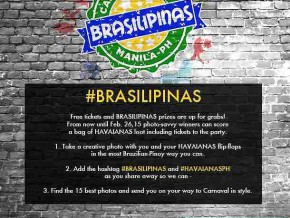 Win Free Tickets to Brasilipinas 2015!
