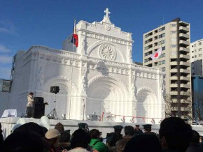 Japan's Snow Festival Features The Manila Cathedral