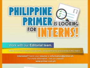 Philippine Primer is looking for INTERNS!
