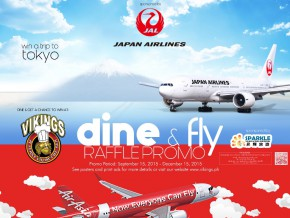 Vikings Dine & Fly Promo: Dine And Win A Trip For Four to Asian Cities
