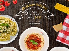 Pasta-all-you-can at Amici on Oct 17!