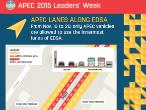 Road and Traffic Advisory for APEC 2015