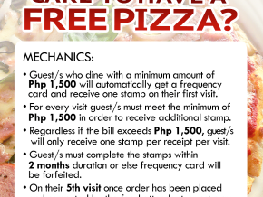 Frequent Carpaccio and Get a Free Pizza!