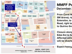MMDA Advisory: Road closures on Dec 23 for MMFF Parade of Stars