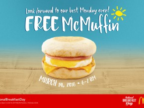 Free McMuffins on March 14: It's National Breakfast Day!