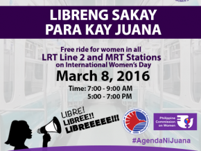 Free Ride for Women at MRT and LRT 2 on March 8!