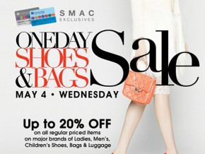 One Day Shoes & Bags Sale at SM