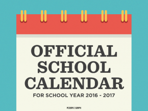 DepED officially releases school calendar for year 2016-2017