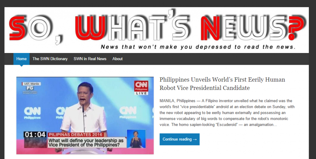List Of Satirical Websites You Should Be Aware Of Philippine Primer