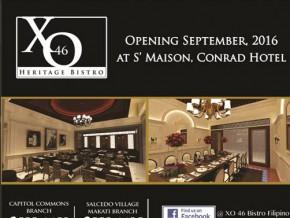 Opening Soon: XO46 S' Maison, Conrad Hotel Branch