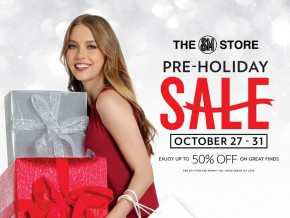 SM stores Pre-Holiday Sale: October 27-31