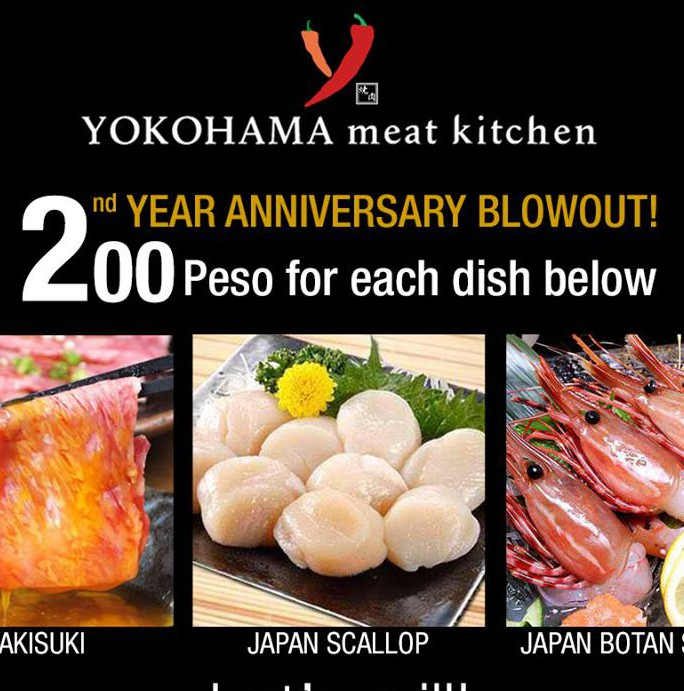 YOKOHAMA Meat Kitchen celebrates their 2nd anniversary with these exciting promos!