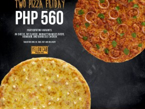 Thank God it's #TwoPizzaFriday at Yellow Cab Pizza Co.