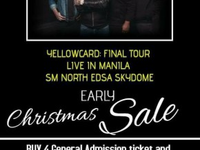 Yellowcard: The Final World Tour Christmas Promo on Gen Ad tickets