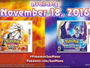 Pokémon Sun and Moon to be released on Nov. 18!