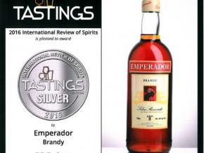 Emperador takes home Silver and Bronze awards at 2016 Int'l Review of Spirits