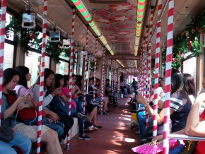 LRT-1 launches Christmas-themed train