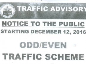 Pasig City fully implements odd-even scheme