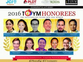 2016 TOYM Awardees honored at Malacañang Palace