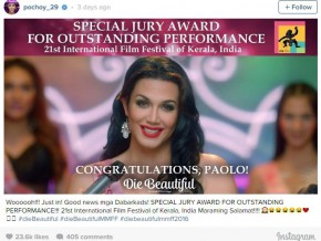 Paolo Ballesteros wins Special Jury Award at the 21st Kerala International Film Festival