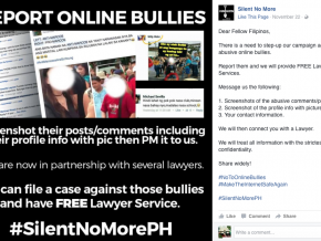 #SilentNoMore: Netizens may now report online bullies