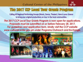 CCP opens 2017 local tour grants for regional performing groups