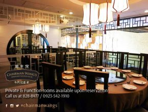 Celebrate your event at Chairman Wang's in Molito, Alabang