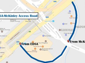 MMDA to open access road between EDSA and McKinley Rd