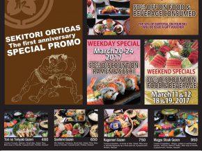 Sekitori Ortigas' Anniversary Promo
