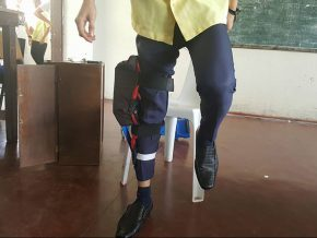 Filipino student's invention harvests energy from walking
