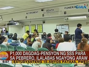 Pensioners to receive additional P1k benefit from SSS on Friday