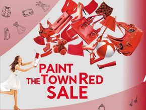 Alabang Town Center's Paint the Town Red Sale on Apr 1 to 2 & 8 to 9