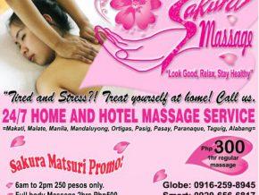 Sakura Matsuri Promo at Sakura Massage