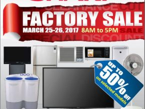 Get 50% off at SHARP Philippines' First Factory Outlet Sale on March 25-26