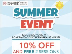 Get up to 10% off from wellness packages by Yakson House Makati