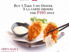 Enjoy Buy 1 Take 1 Oysters at Saboten