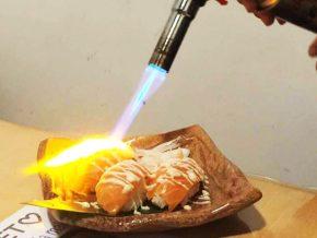 Hanagushi's 30% off on their Salmon Sushi