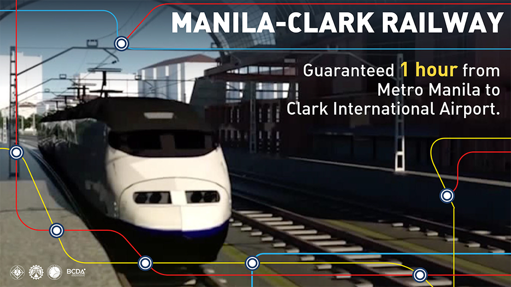 Manila and Clark Airport to be connected by high speed rail