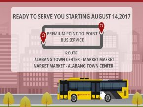 Alabang to BGC P2P route to be launched on August 14