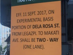 New Traffic Advisory along Dela Rosa and Legazpi St. in Makati City