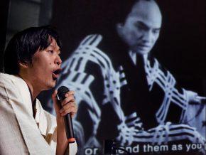 Ichiro Kataoka accompanies Dragnet Girl at the 11th International Silent Film Festival