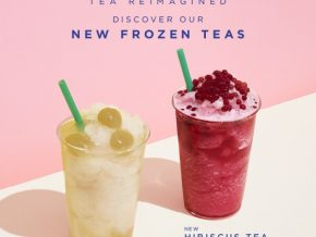 Starbucks releases new drinks from their line of handcrafted tea-based beverages