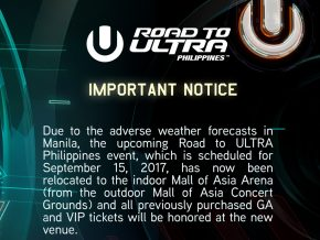 Road To ULTRA Philippines changes venue, goes indoor
