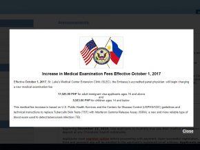Medical exam fees for US immigrant visa to go up starting Oct 1