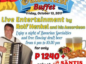 Octoberfest Buffet at Santis Deli-Cafe Silang