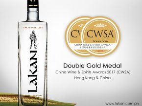 Lakan Extra Premium Lambanog receives Double Gold Medal award at CWSA 2017