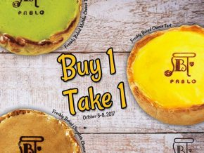 Pablo opens in Greenbelt 5: Buy One Take One Promo until October 8, 2017